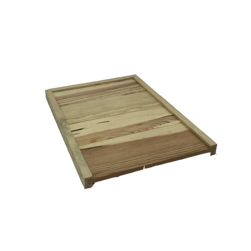 Ruche Dadant 10c plancher bois, hausse, toit chalet