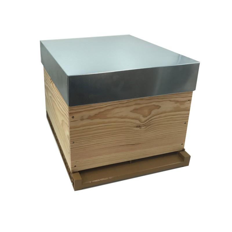 copy of ruche dadant 10c plancher bois toit tolé